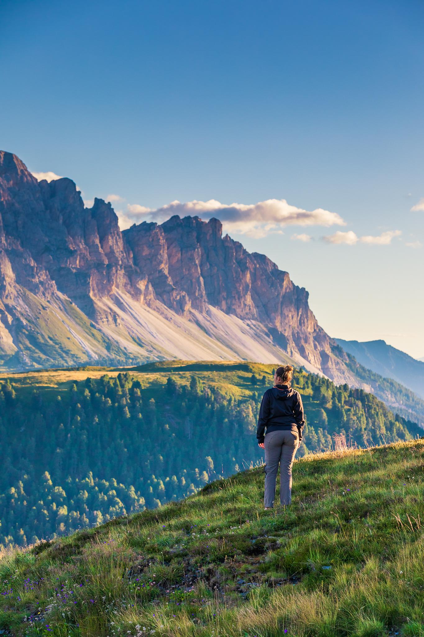 vista della cresta del Monte Muro al tramonto